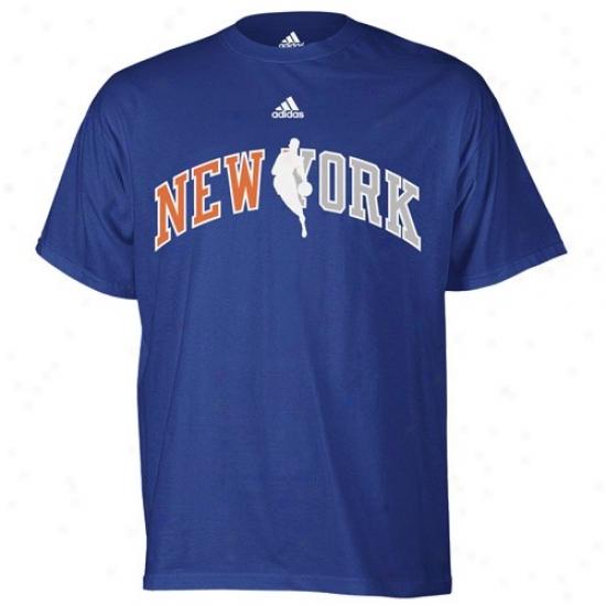 N.y. Knicks Tses : Adidas N.y. Knicks Royal Melancholy 2010 Draft Dribbler Tees