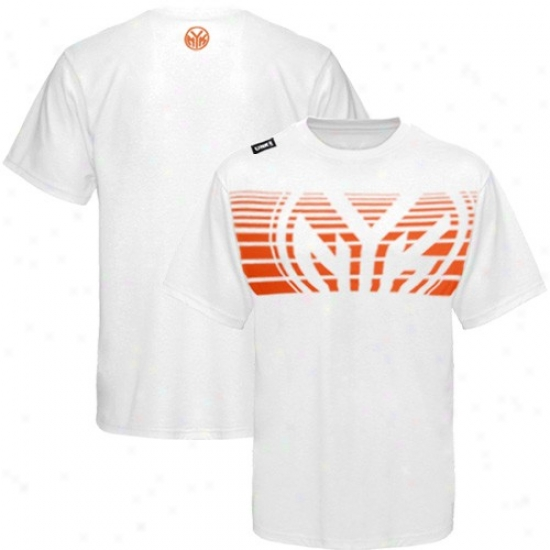 Ny Knicks Tees : Ny Knicks White Slash Graphic Tees