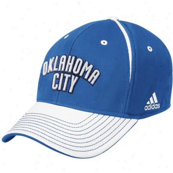 Okc Thunder Match : Adidas Okc Thunder Blue Block Letter Flex Fit Cap