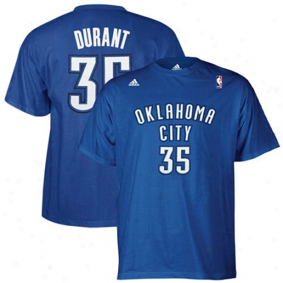 Okx Thunder Shirt : Adidas Okc Thunder Royal Blue #35 Kevin Durant Player Shirt