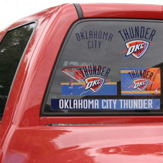 Oklahoma City Thunder 11'' X 17'' Window Clings Sheet