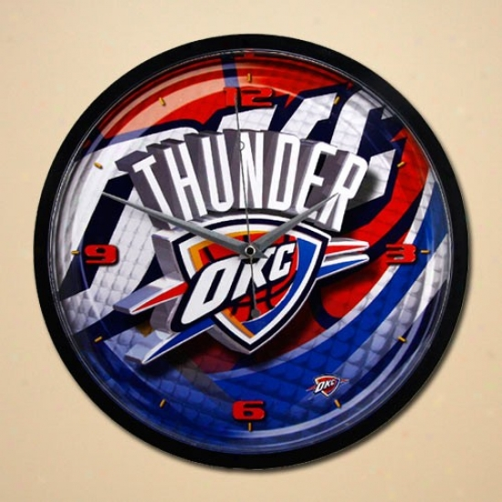 Oklahoma City Thunder 12'' Wall Clock