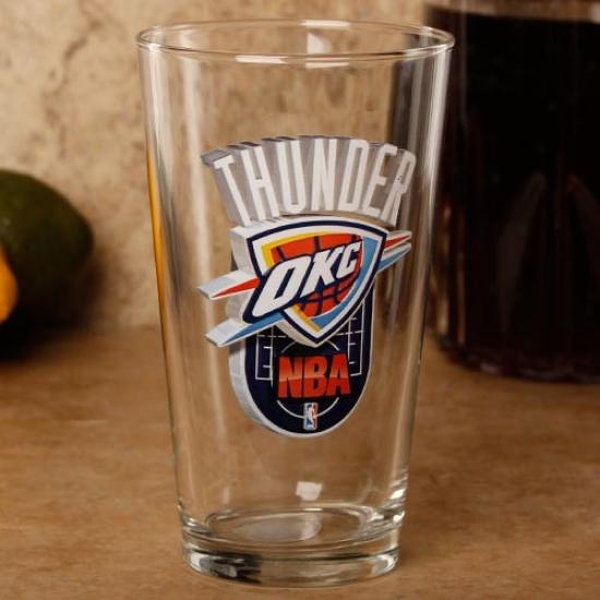Oklahoma City Thunder 17 Oz. Enhanced Hi-def Mixing Glzss