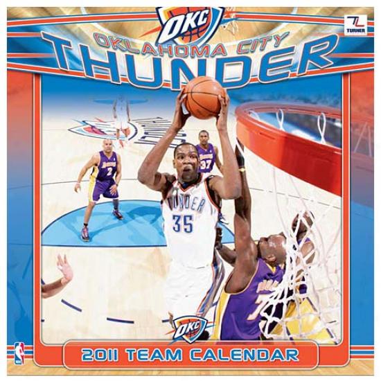 Oklahoma Clty Thunder 2011 Wall Calendar