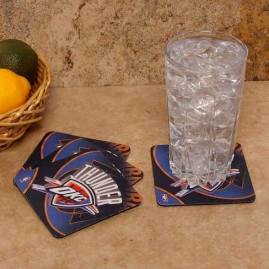 Oklahoma City Thunder 4-pack Sublimated Logo Neoprene Coaster Set