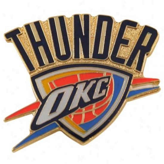 Oklahoma City Thunder Head-cover : Oklahoma City Thunder Team Logo Pin