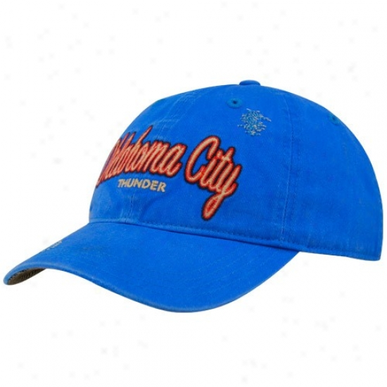 Oklahoma City Thunder Hats : Adidas Oklahoma City Thunder Light Blue Alternate Slouch Hats