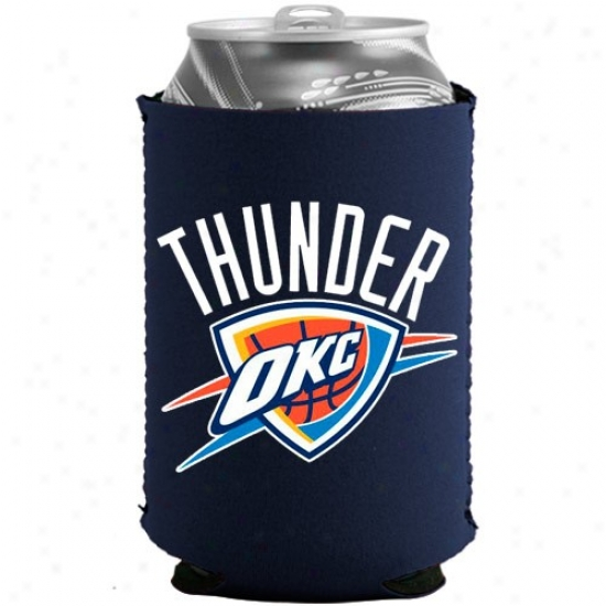 Oklahoma City Thunder Navy Blue Collapsible Can Coolie