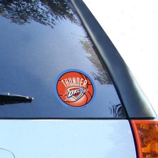 Oklahoma City Thunder Round Vinyl Basketball Decal