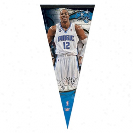 Orlando Magic #12 Dwight Howard 17'' X 40'' Reward Felt Plaayer Pennant