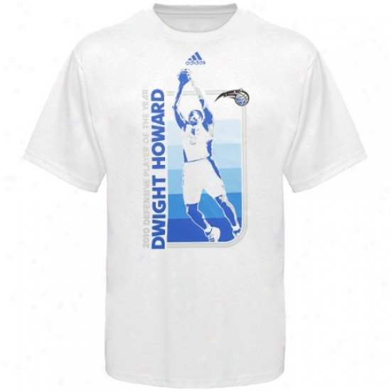 Orlando Magic Attire: Adidas Orlando Magic #12 Dwight Howard 2010 Defensive Player Of The Year Of a ~ color T-shirt