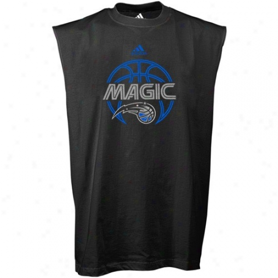 Orlando Magic Attire: Adidas Orlando Magic Black Total Game Sleevless T-shirt