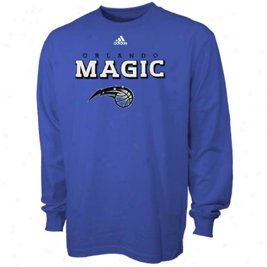 Orlando Sorcery Attire: Adidas Orlando Magic Livid True Youth Lojg Sleeve T-shiry