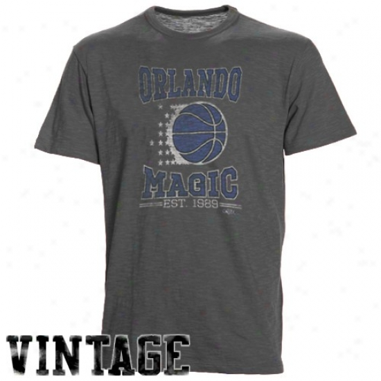 Orlando Magic Attire: Banner '47 Orlando Magic Charcoal Logo Vintage Premium T-shirt