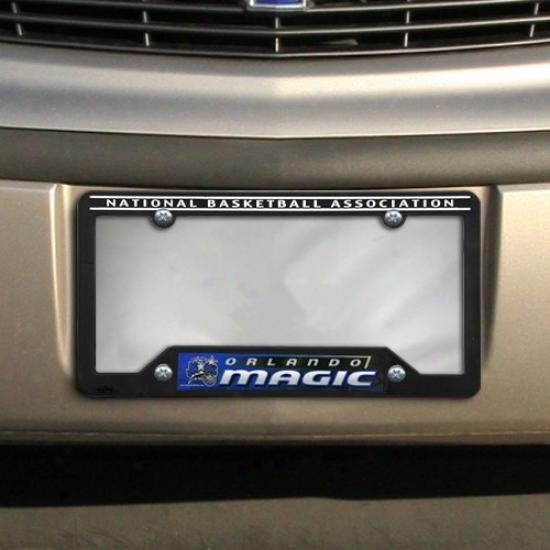 Orlando Magic Black Plastic License Plate Frame
