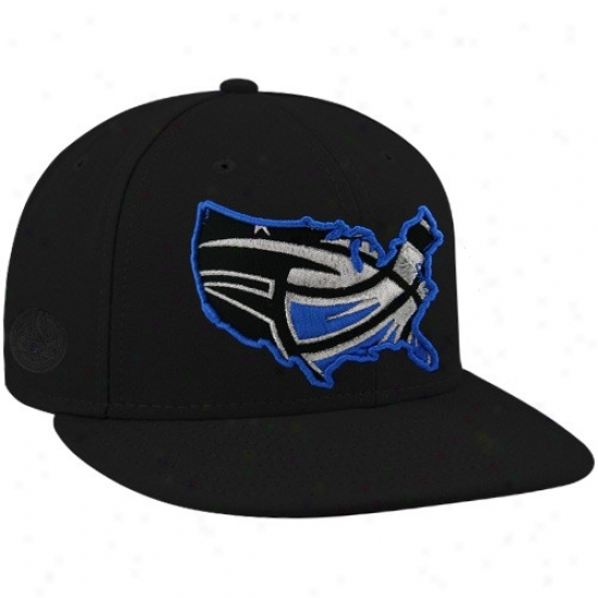 Orlando Magic Caps : New Era-espn Orlando Magic Black Insider Premium Fitted Caps