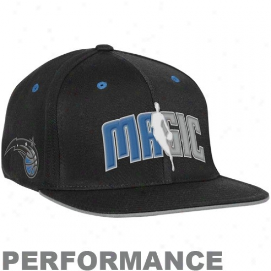 Orlando Magic Gear: Adidas Orlando Magic Black Official Draft Lifetime Fitted Hat