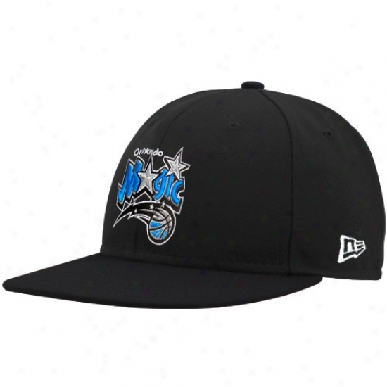 Orlando Magic Gear: New Era Orlando Magic Black Logo 59fifty Fitted Hat