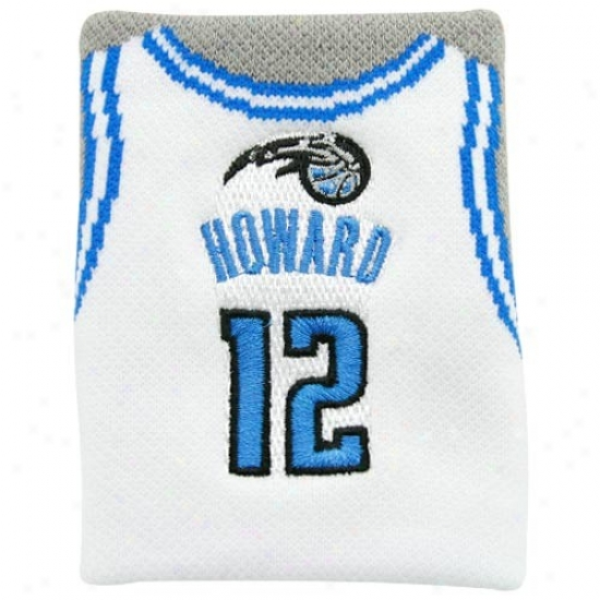 Orlado Magic Gear: Orlando Magic #12 Dwight Howard White Team Jersey Wristband