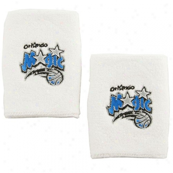 Orlando Magic Hat : Adidas Orlando Magic White Puerto Rico Wrist Sweatband