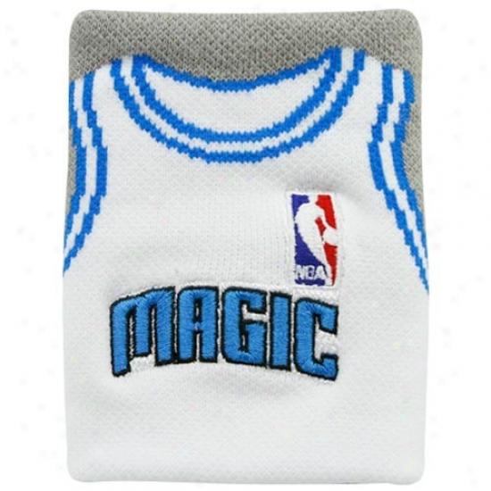 Orlando Magic Hat : Orlando Mgic White Team Jersey Wristband