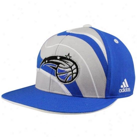 Orlando Magic Hats : Adidas Orlando Magic Royal Blue Spiral Flat Bill Fitted Hats