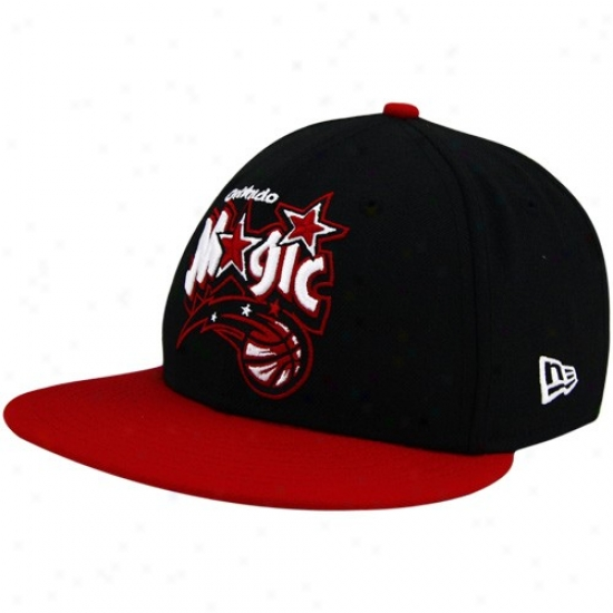 Orlando Magic Hats : New Era Orlando Sorcery Black-red League 59fifty Fitted Hats