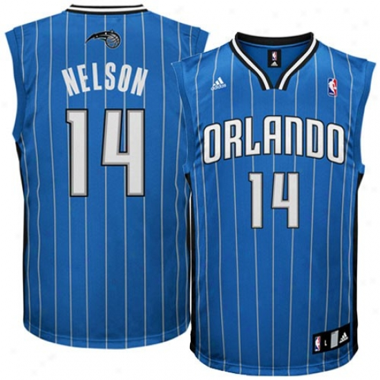 Orlando Magic Jersey : Adidas Orlando Magic #14 Jameer Nelson Royal Blue Seingman Basketball Jersey