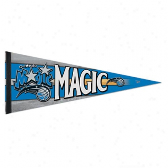 Orlando Magic Light Blue 12'' X 30'' Premium Felt Pennant