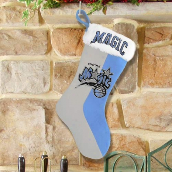 Orlando Magic Instruction Blue-gray Plush Stocking