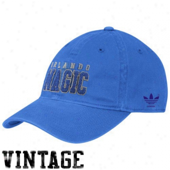 Orlando Magic Merchandise: Adidas Orlando Magic Royal Blue Slope Flex Fit Hat