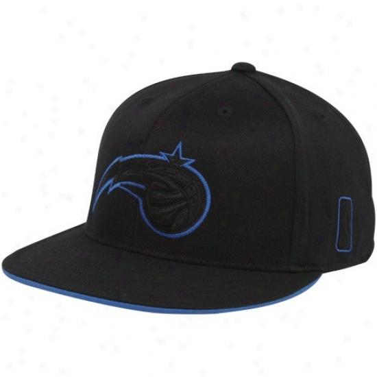 Orlando Magic Merchandise: Adidas Orlando Magic Black Tonal 210 Fitted Flex Hat