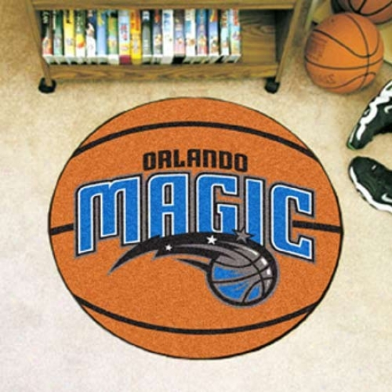 Orlando Magic Orange Round Basketball Mat