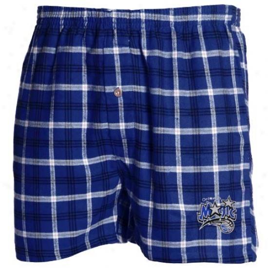 Orlando Magic Roya Blue Plaid Tailgate Boxer Shorts