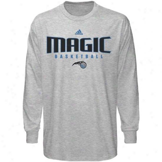 Orlando Magic Shirt : Adidas Orlando Magic Ash Absolute Long Sleeve Shirt