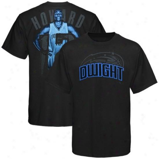 Orlando Magic Shirt : Orlando Magic #12 DwightH oward Youth Black Notorious Shirt