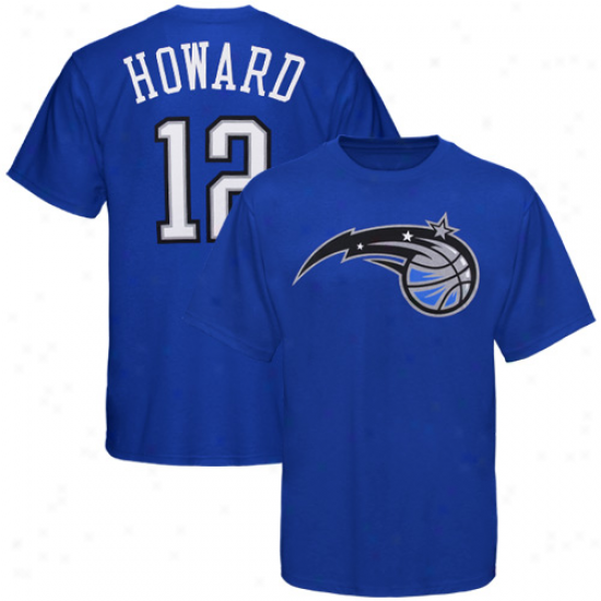 Orlando Magic Shirts : Makestic Orlando Magic #12 Dwight Howard Rogal Blue  Playwr Shirts