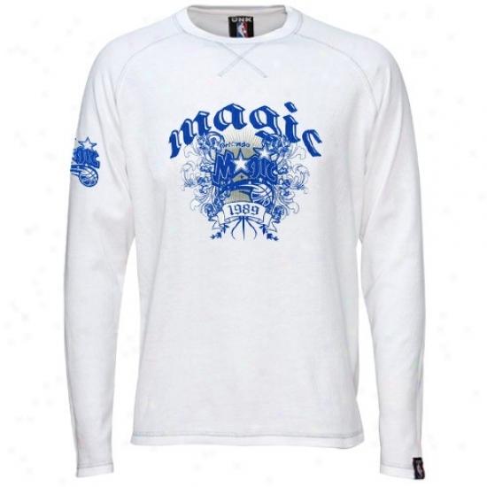 Orlando Witchery T Shirt : Orlando Magic White Jam Long Sleeve Thermal T Shirt