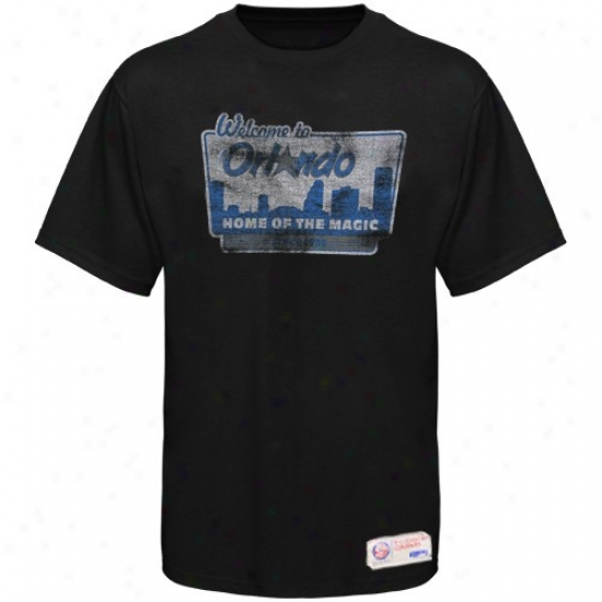Orlando Magic Tshirt : Sportiqe-espn Orlando Magi cBlack Billboard Distressed Premium Tshirt