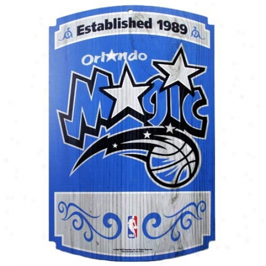 Orlando Magic Wood Sign