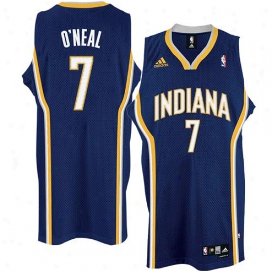 Pacerz Jersey : Adidas Pacers #7 Jermaine O'neal Navy Blue Swingman Basketball Jersey