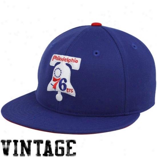 Philadelphia 76er Gear: Mitchell & Ness Philadelphia 76er Imperial Livid Vintage Logo Fitted Hat
