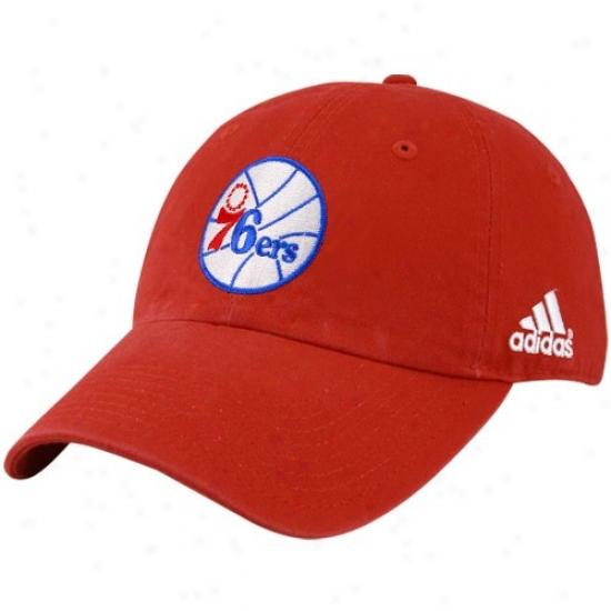 Philadelphia 76er Hat : Adidas Philadelphia 76er Ref Basic Logo Adjustable Slouch Hat
