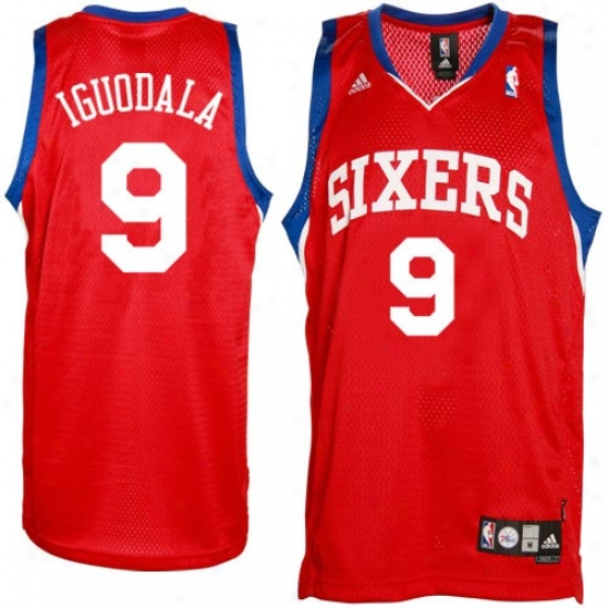 Philadelphia 76er Jerseys : Adidas Philadelphia 76er #9 Anndre Iguodala Red Swingman Basketball Jerseys