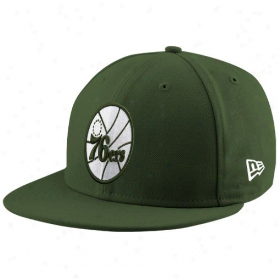 Philadelphia 76er Merchandise: New Era Philadelphia 76er Green League 59fifty Fitted Cardinal's office