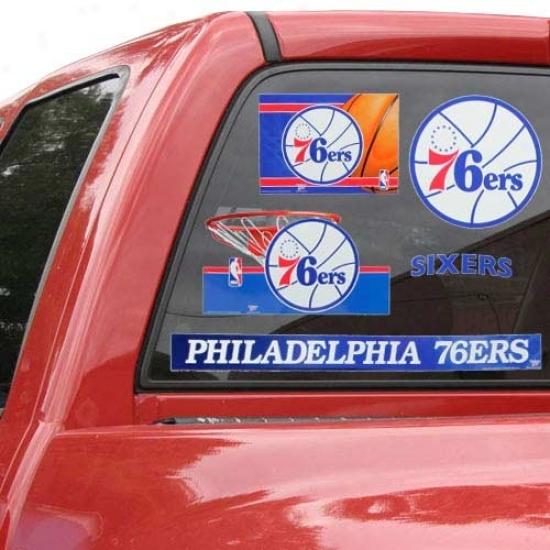 Philadelphia 76ers 11'' X 17'' Ultra Decals