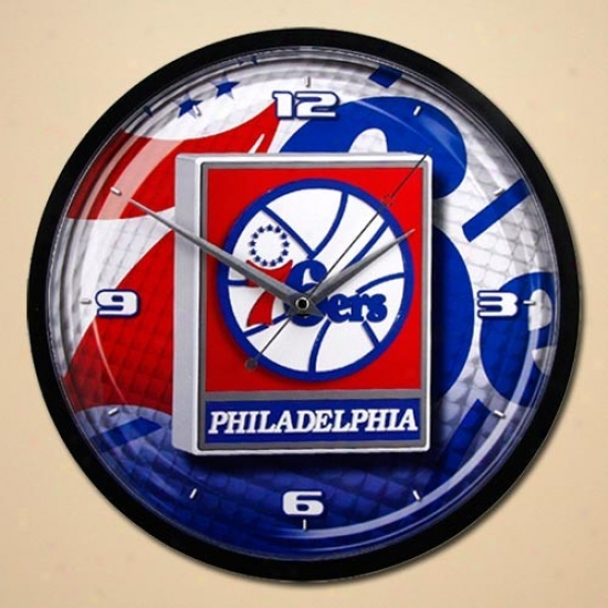 Philadelphia 76ers 12'' Wall Clock