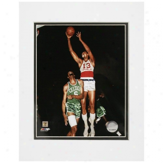 Philadelphia 76er s#13 Wilt Chamberlain 11'' X 14'' Matted 1967 Player Action Photo