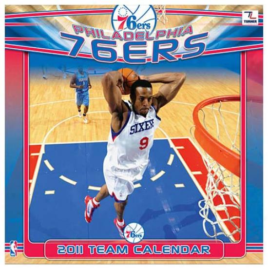 Philadelphia 76ers 2011 Wall Calendar