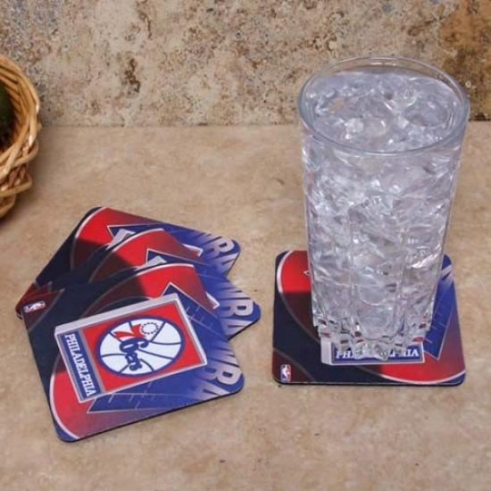 Philadelphia 76ers 4-pack Sublimated Logo Neoprene Coaster Set
